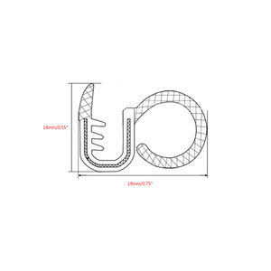 Image 3 - 2x80 centimetri di Isolamento Acustico Auto di Tenuta In Gomma Striscia Trim Per B Pilastro Rumore Antivento Bordo Della Porta di Tenuta In Gomma strisce Car Styling