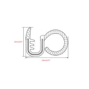 Image 3 - 2x80cm סאונד גומי איטום רצועת Trim עבור B עמוד רעש Windproof דלת קצה גומי חותם רצועות רכב סטיילינג