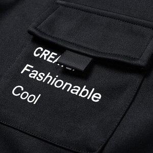Image 5 - Singload męskie bluzy 2020 kieszenie moda bluza Hip Hop Harajuku japońska moda uliczna czarna bluza z kapturem męskie bluzy męskie
