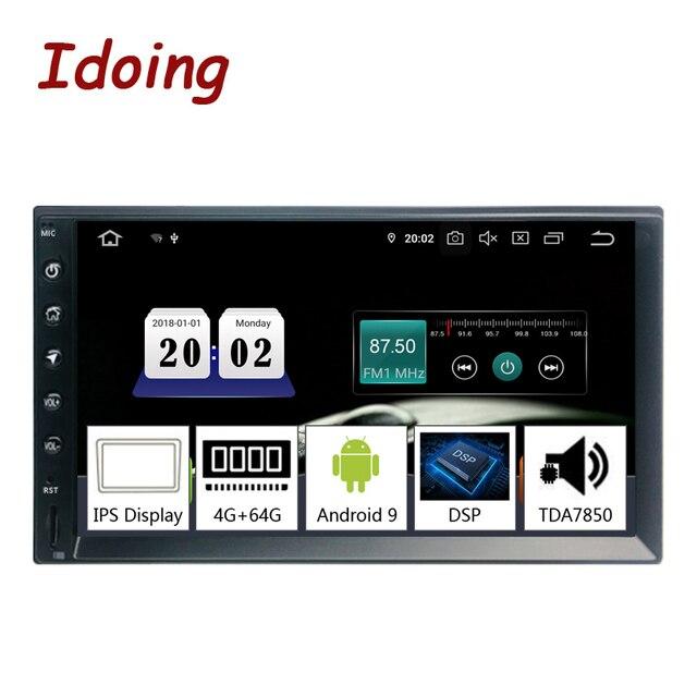 """Idoing 2Din 7 """"PX5 4 グラム + 64 グラムオクタコアユニバーサル車の gps ラジオプレーヤーアンドロイド 9.0 ips 画面ナビゲーション、マルチメディア bluetooth TDA7850"""