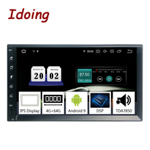 Idoing Radio con GPS para coche, Radio con reproductor, 2DIN, 7 pulgadas, PX5, 4G + 64G, Octa Core, GPS para coche Universal, Android 9,0, pantalla IPS, navegación Multimedia, Bluetooth, TDA7850