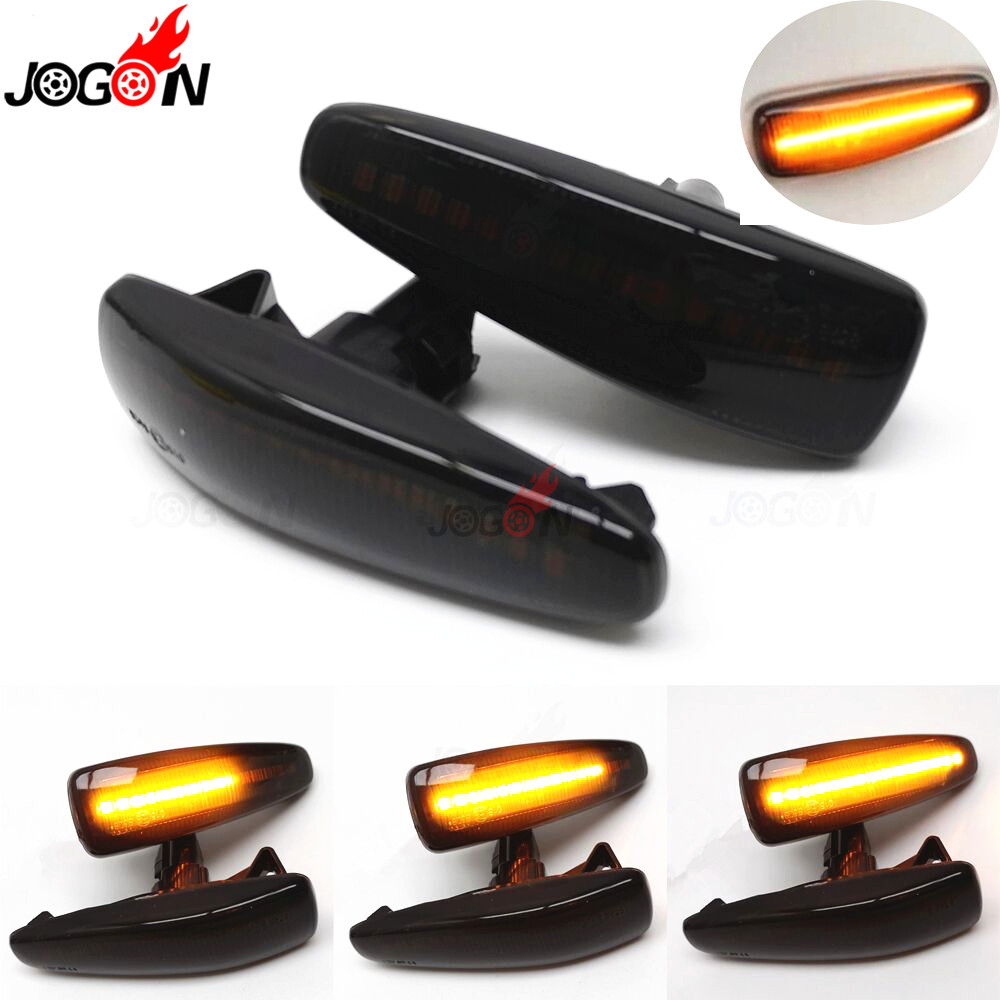 LED Side Fender Dynamic Turn Signal Light Marker Lamp For Mitsubishi Lancer Evolution Evo X Outlander Sport RVR ASX Mirage 2014+
