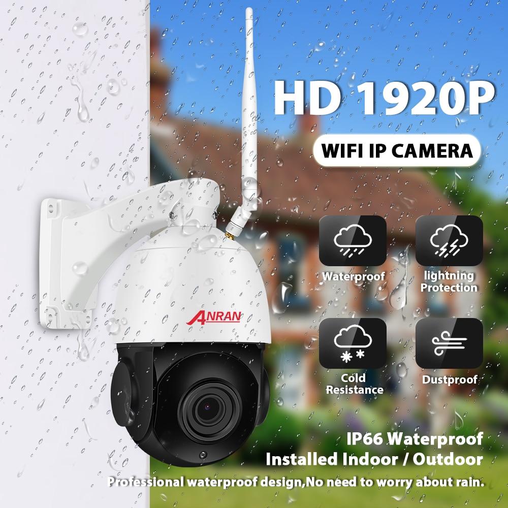 Anran 5mp câmera ip 20 x zoom ptz ao ar livre à prova dwaterproof água velocidade dome câmera lente 60 m ir night vision câmera de segurança apoio onvif