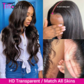 Парик Tinashe из человеческих волос на сетке, 180, 250 плотность, 13x4