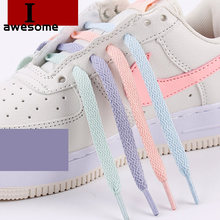 1Pair 8mm Wide of Flat Sport Travel Shoelaces Shoe Laces for Sneakers Sport Shoes Classic Jelly Color 120cm / 140cm / 160cm(China)