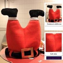 Christmas Hat Plush Elf Santa Hat Ornament Decoration Christmas Cap New Year Xmas Party Props Decoration Funny Gift Caps