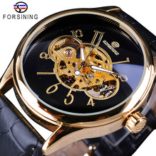 FORSINING Sport Skeleton Luminous Men's Watches Top Brand Luxury Automatic Watch Mechanical Wristwatch Montre Homme цена 2017