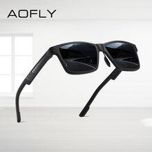 Aofly брендовые дизайнерские квадратные поляризованные солнцезащитные