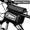 Wild man bolsa de bicicleta à prova de chuva, quadro frontal superior, refletor 6.5in, estojo para celular, touchscreen, acessórios para bicicleta mtb 7