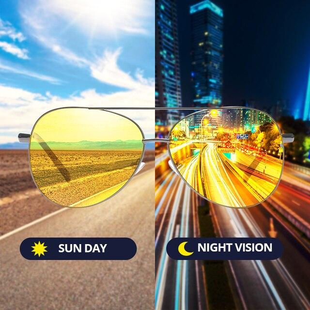 Pro Acme Classic Pilot Night Vision Glasses Driving Yellow Lens Vision Driver Glasses For Men CC0101 4