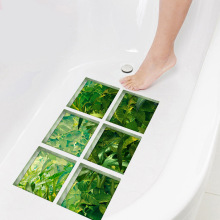 Funlife 3D Bathtub Stickers Bath Mats,Rainforest Non-slip PVC Waterproof Self-adhesive Tub Decals Appliques for Tile Floor Wall