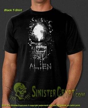 Alien camiseta de alienígenas Xenomorph H.R. Giger Weyland Nostromo-película de ciencia ficción,...