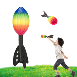 Kids Outdoor Fun Games PU Throw Rocket Missile Darts Toys Games For The Street Training ball Sensory Toys Games For Kids Outdoor