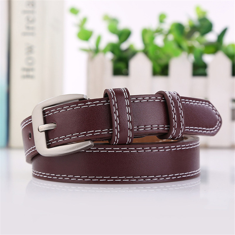 HUOBAO New Designer Fashion Pin Buckle Belts For Women Ladies Metal Leather Straps Female Waistband