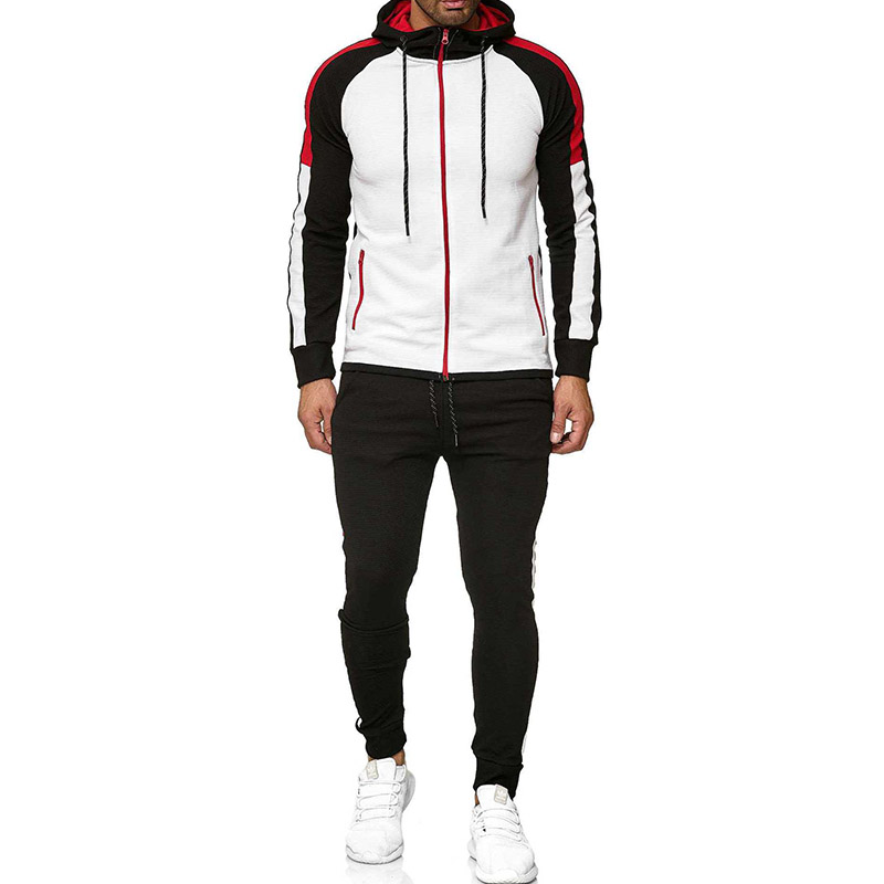 5xl Two Piece White Men Tracksuits Hoodies 2019 Fitness Sport Tracksuit Men Set Men's Clothing Autumn Brand Tracksuit For Male