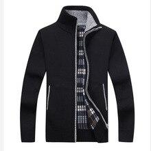 Cardigan Sweater Men Winter 2019 Turtleneck Sweate