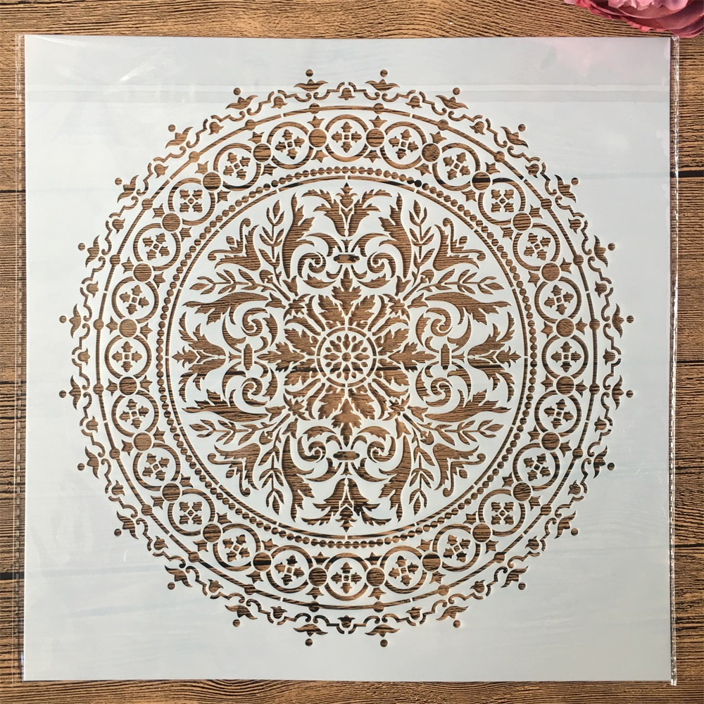 30*30cm Big Geometry Mandala Wheel DIY Layering Stencils Painting Scrapbook Coloring Embossing Album Decorative Template