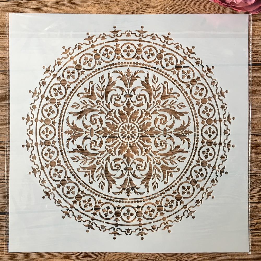 30*30cm Big Geometry Mandala Wheel DIY Layering Stencils Painting Scrapbook Coloring Embossing Album Decorative Template