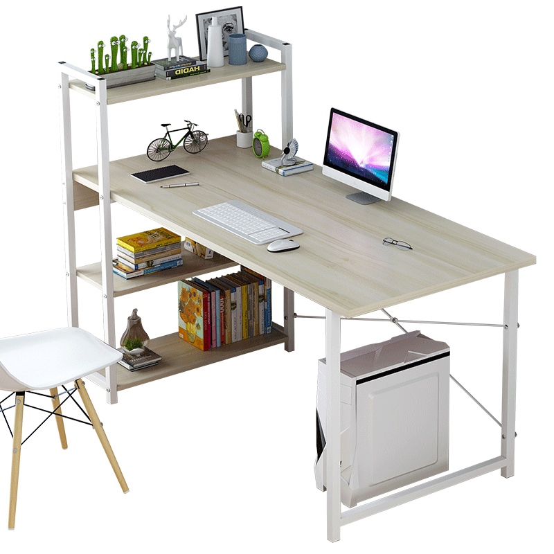 Computer Desktop Table Home Simple Modern Office Desk Bookcase Combination Simple Bedroom Student Writing Small Table