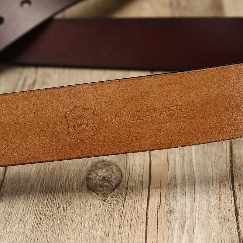[LFMB] krowa prawdziwej skóry luksusowy pasek męski pasek s dla mężczyzn nowa moda classice broszka w stylu vintage skórzany pasek z klamrą męski pasek mężczyzn