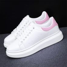 New 2021 Men's White Sneakers Women's Fashion Vulcanize Shoes size 35-44 High quality HIP HOP Shoes Platform Lace-up running