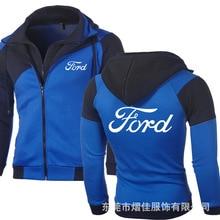 Spring Autumn Fashion for Ford Hoodies Men Fleece Luminous Sweatshirts Cardigan Double Zipper Cosplay Jacket Coat