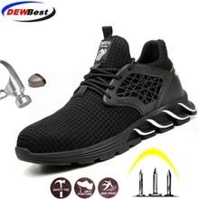 DEWBEST/; модная защитная обувь; Мужская Рабочая обувь; Повседневная дышащая обувь для безопасности; подходит для работы и жизни; Рабочая обувь с круглым носком