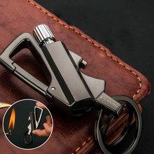 Outdoor Waterproof Matches Kerosene cigar Lighters Portable Multi-Function Key Ring Tools Beer Opener Metal Keychain Lighters