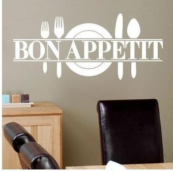Hot Modern&romanticbon appetitFrench Kitchen Restaurant vinyl stickers Art wall 8344