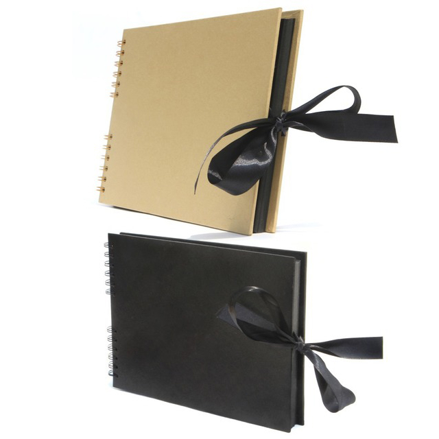 40 Sheets Black Page Photo Album, 11.6 X 8.3 Inch Great For Craft Paper DIY Anniversary, Wedding, Valentines Day Gifts