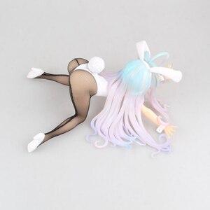 Image 3 - 11*24cm anime nenhum jogo sem vida shiro gato figura de ação pvc nova menina coelho coleção figuras brinquedos menina sexy figura