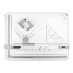 Tabla de dibujo A3 mesa de dibujo multifuncional mesa de dibujo con regla clara movimiento paralelo y ángulo de medición ajustable