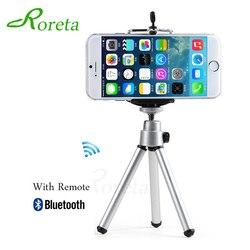 Roreta telefone móvel mini tripé suporte bluetooth remoto monopé tripés para mini câmera digital tripé telefone desktop titular