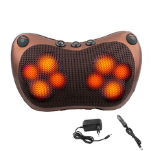 Relaxation Massage Pillow Vibrator Electric Shoulder Back Heating Kneading Infrared therapy pillow shiatsu Neck Massager