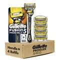 Бритвенные лезвия, кассеты, машинка для бритья для Gillette Fusion 5 Proshield, Мужская Ручная Бритва для лезвий и замены мужской t-головки