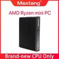 Мини-ПК Ryzen 5 2500U 3500U настольный компьютер Windows 10, консоль для ПК-игр с поддержкой Windows двойной DDR4 HDMI USB-C Wi-Fi, Bluetooth,4K Nvme SSD Мини ПК