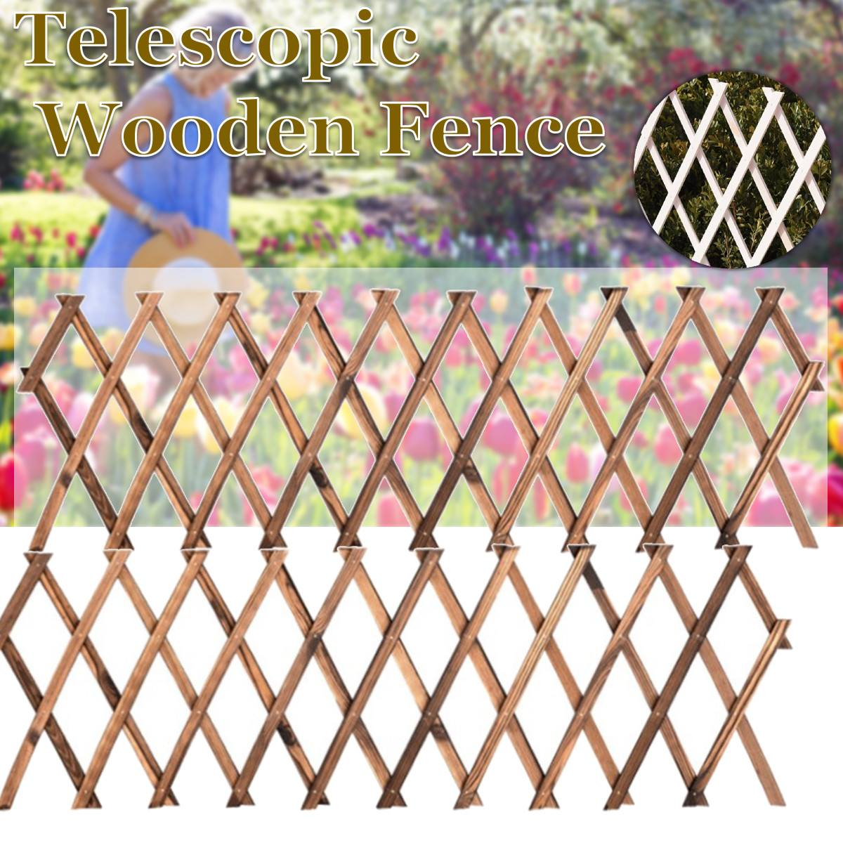 Expanding Wooden Garden Anticorrosive Wood Pull Net Wall Fence Panel Plant Climb Trellis Support for Home Yard Garden Decoration