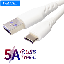 5A USB Type C Phone Cable Super Charge For Huawei Fast Charg