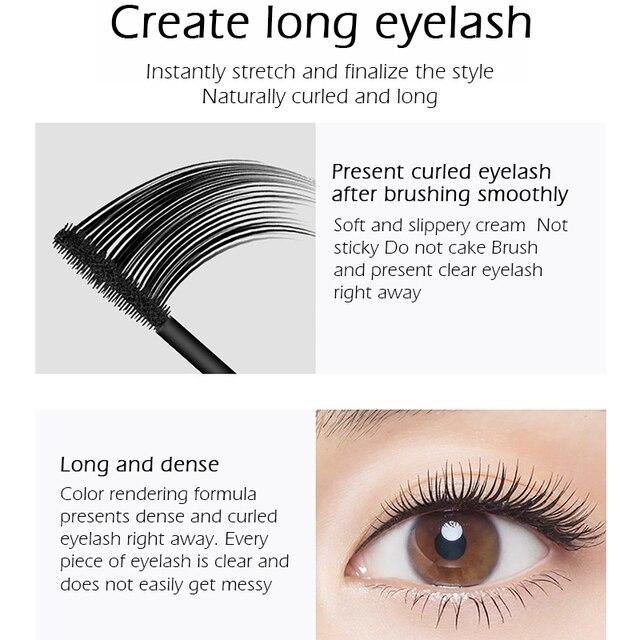 SENANA 4D Silk Fiber Lashes Thick Lengthening Mascara Long Black Lash Eyelash Extension Eye Lashes Brush Makeup Eye Cosmetics 4