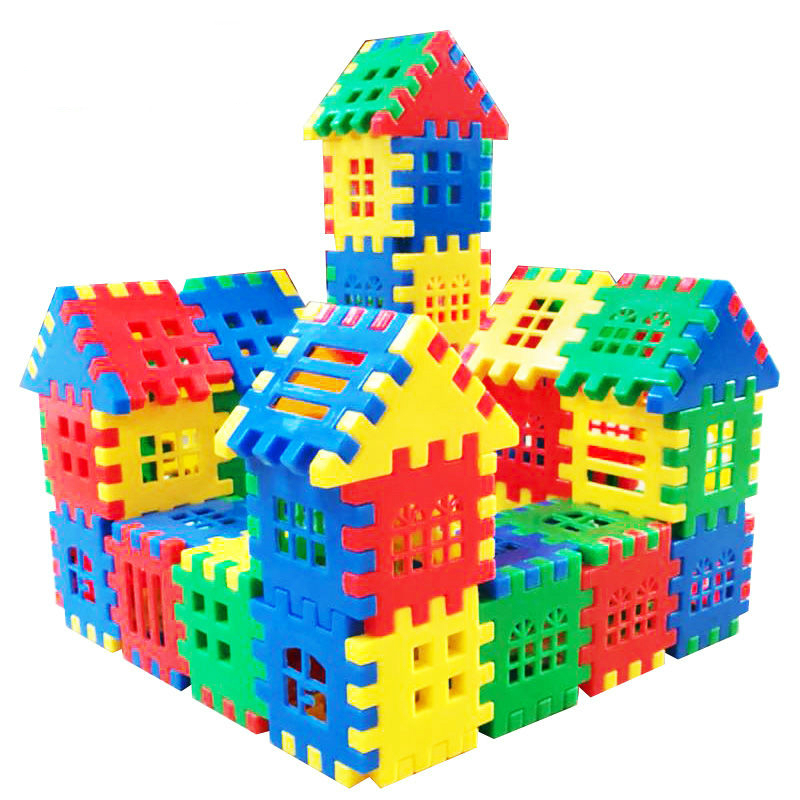 110/140/160pcs Set Fashion Plastic Building Blocks Kids Creative Educational Toys For Children Boys Girls Christmas Gift