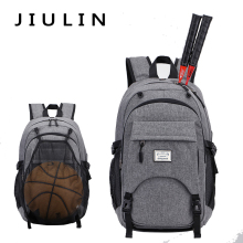 Double-shoulder bag men's basketball bag large-capacity outdoor body-building sports bag, usb charging backpack.