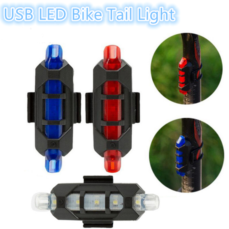 Rechargeable USB LED Bike Tail Light MTB Safety Warning Bicycle Front Rear Light Bicycle Lamp Flash Light bike headlight