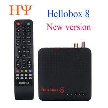 1 قطعة Hellobox 8 الأقمار الصناعية استقبال DVB T2 DVBS2 كومبو التلفزيون مربع التوأم موالف دعم التلفزيون اللعب على الهاتف مجموعة أعلى مربع الأقمار الصناعية مكتشف