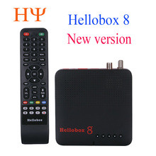 1pc Hellobox 8 satellite receiver DVB T2 DVBS2 Combo TV Box Twin Tuner Support TV Play On Phone set top box satellite finder