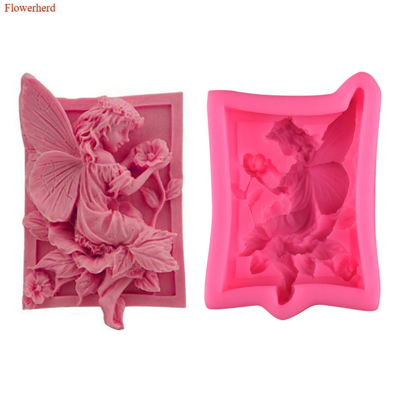 Fairy Angel Shape 3D Resin Clay Silicone Mold DIY Handmade Soap Mold Silica Gel Mould Fondant Cake Mold Chocolate Biscuit Mold