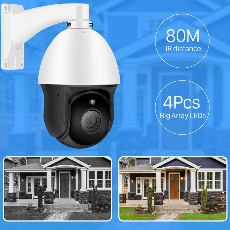 INQMEGA FHD 30X ZOOM cyfrowy 4 Cal kamera sieciowa PTZ zewnętrzna IP66 wodoodporna obudowa metalowa Monitor IP inteligentna kamera monitorująca