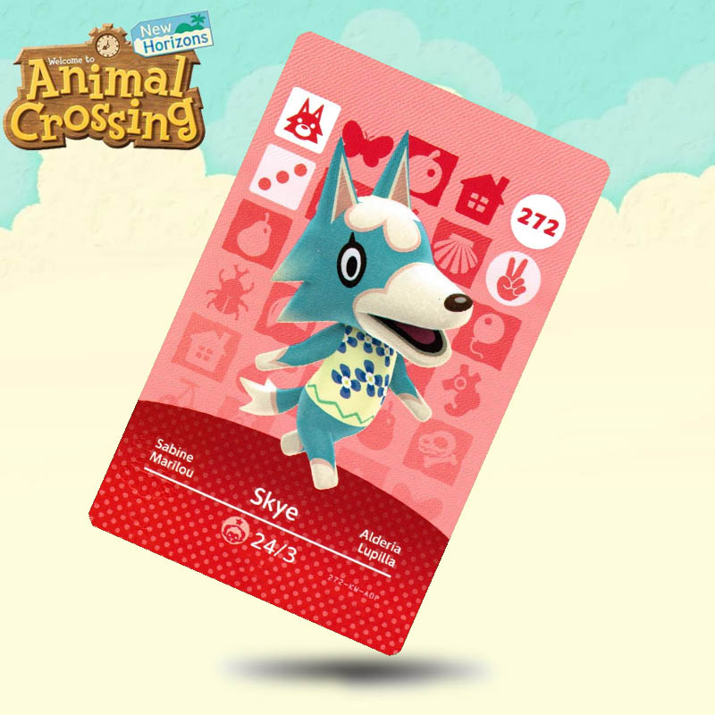 272 Skye Animal Crossing Card Amiibo Cards Work For Switch NS 3DS Games