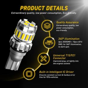 2 шт. W16W T15 Led Canbus Автомобильный светодиодный задний свет Canbus лампа для Mazda 3 2 Axela 6 GG GH 8 CX-5 CX5 Atenza 323 MX5 CX3 RX8 CX7 CX9