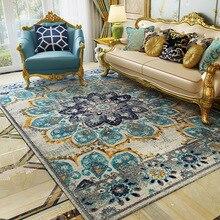 Персидский марокканский ковер для гостиной, американский стиль, ковер для спальни, ретро этнический диван, ковер для журнального столика, коврик для кабинета, домашний декор