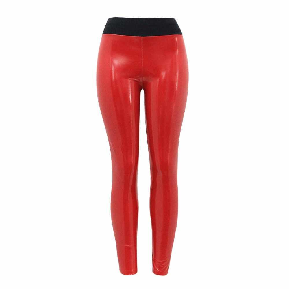 Giày Nữ Strethcy Sáng Bóng Tập Thể Thao, Quần Legging Quần Đáy Quần Quần Lót Nữ Gợi Cảm Màu Đen Đỏ Pantalones Mujer